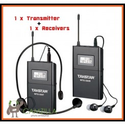 Takstar WTG-500 DSLR Camera Wireless Mic + Receiver AcousticTransmission System