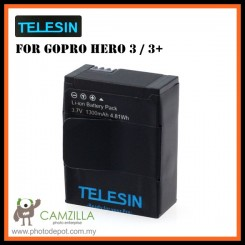 TELESIN Replacement 1300mAh Battery for GoPro AHDBT-302 Hero 3 / 3+