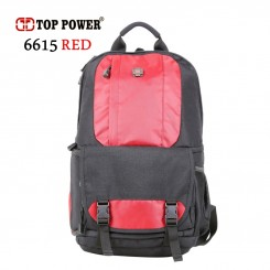 "Top Power 6615 - RED Digital SLR Camera Backpack Laptop 14"" & Rain Cover"