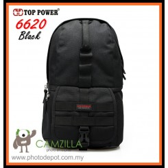 Top Power 6620 DSLR Camera Bag ,Backpack , Water Resistant - Black