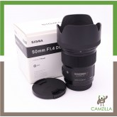 USED SIGMA LENS ART 50mm 1:1.4 DG FOR CANON