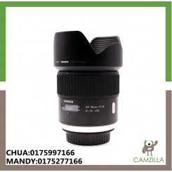 USED TAMRON LENS SP 35mm 1.8 VC FOR CANON