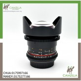USED SAMYANG LENS T3.1 14mm ED AS IF UMC II (FOR CANON)