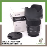 USED SIGMA ART LENS 50mm 1:1.4 DG FOR CANON