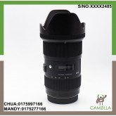 USED SIGMA LENS 18-35mm 1:1.8 DC FOR CANON A-PSC