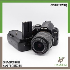 USED NIKON D3000 BODY WITH BATTERY GRIP SC:22K