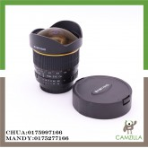 USED SAMYANG LENS AE 8 mm 1:3.5 FISH EYE CS FOR NIKON