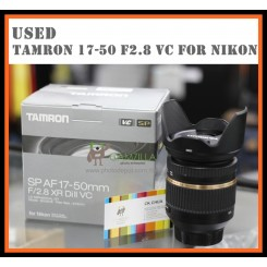 [USED] Nikon mount Tamron SP AF 17-50mm F2.8 XR Di II VC Lens - Excellent Condition