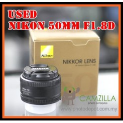 [USED] Nikon 50mm F1.8D Camera Dslr Lens (Good Condition)
