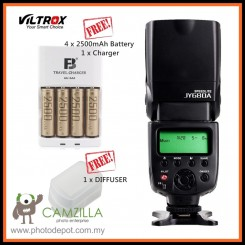Viltrox JY680A On-camera Speedlite Light Flash  for Canon Nikon Sony Pentax DSLR Camera