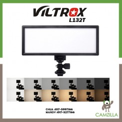 "VILTROX L132T 0.78""/2cm Ultra Thin CRI95 5600K/3300K LED Video Light Dimmable Flat Panel On-camera Light Pad for Canon Nikon Pentax Olympus Samsung Panasonic DSLR Cameras DV Camcorders"