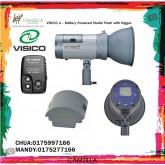 VISICO 4 -BATTERY POWERED STUDIO FLASH WITH TRIGGER