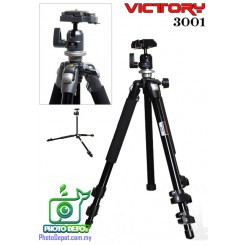 Victory 3001B Aluminium Tripod and Ball head (5KG Load Max)
