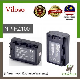 Viloso NP-FZ100 Battery for Sony A7III  A7RIII A9 (1 Year 1-to-1 Exchange Warranty)