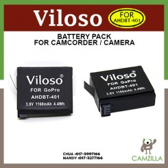 Viloso AHDBT-401 Rechargeable Battery for GOPRO HERO 4 Action Camera