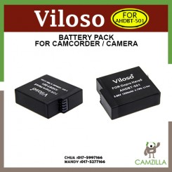 Viloso Rechargeable AHDBT-501 1220mAh Battery for Gopro Hero 5 Black Sport Camera Accessories