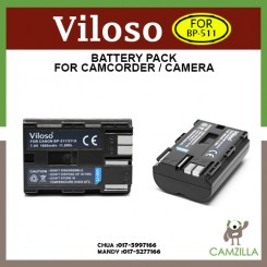 Viloso Battery for Canon BP-511 BP-511A