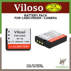Viloso CNP-130 Li-Ion Battery for Casio ZR1100 ZR1200 ZR1500 NP130