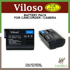 Viloso EN-EL15 Rechargeable Li-Ion Battery for Nikon V1 D600 D610 D750