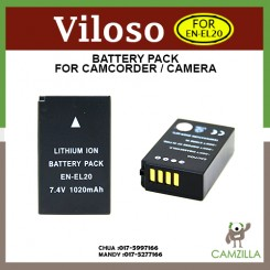 Viloso EN-EL20 Rechargeable Li-ion Battery Nikon 1 J1 digital camera