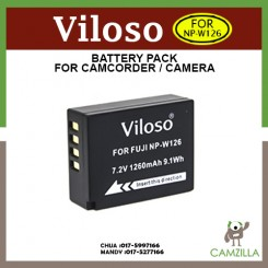 Viloso Fujifilm NP-W126 Battery Pack NPW126 for X-E2 XE2 XE-2