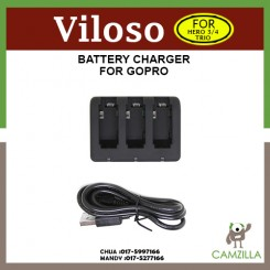 Viloso 3in1 Charger for GoPro Hero 3/4 Battery