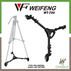 Weifeng WT-700 Pro 3 Wheels Pulley Universal Folding Camera Tripod Dolly Base Stand for photography