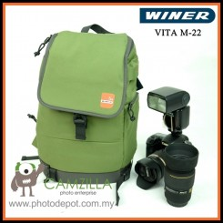 Winer Vita Series M-22 Stylish DSLR Camera Sling Bag Backpack (Army Green)
