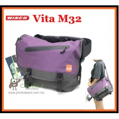 Winer Vita M32 Messenger Stylish DSLR Camera Bag ( Purple )