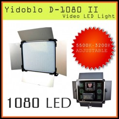Yidoblo D-1080 II LED Camera Photo Video Light 3200K~5500K   (Inclde Power Plug Socket )