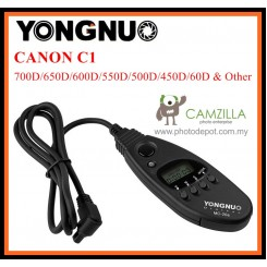 Yongnuo MC-20 (C1) Timer Remote Cord For 700D/650D/600D/550D/500D/450D/60D