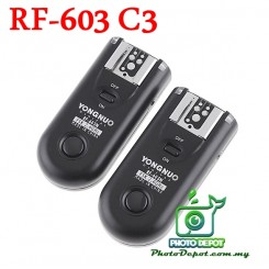 Yongnuo RF-603 2.4GHz Wireless Flash Trigger C3 for Canon 1D Series, 5D Mk II, 5D, 50D, 7D, 40D, 30D, 20D & 10D