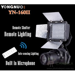 Yongnuo YN-160 II LED Video Light With Build-in Microphone and Remote Control