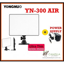 Yongnuo YN-300 Air Pro LED DSLR Camera Video Studio Light with Power Supply