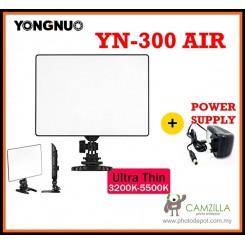 Yongnuo YN-300 Air Pro LED DSLR Camera Video Studio Light with Power Supply