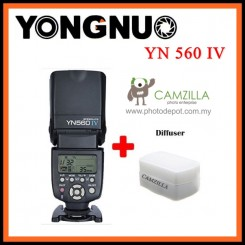 Yongnuo YN-560 IV Flash Speedlite for Canon Nikon Pentax Olympus DSLR Cameras With Diffuser