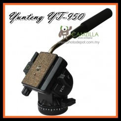 YT 950 Professional Photography YUNTENG DSLR Hydraulic pressure Fluid Tripod Head For Photo & Video