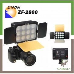 ZIFON ZF-2800 LED Video Lamp Dual Color Temperature 3400K/5600K for Camcorder & DSLR