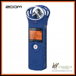 ZOOM H1 - Handy Audio Recorder For DSLR/Videocam Audio Kit - Blue (Free Shipping)