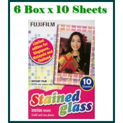 Fujifilm Instax Mini Film Stained Glass - 6 Box