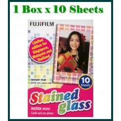 Fujifilm Instax Mini Film Stained Glass - 1 Box