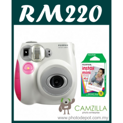 Fujifilm Instax Mini 7S Instant Film Camera Body (Pink) + Film Promo Bundle