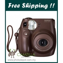 Fujifilm Instax Mini 7S Instant Film Camera Body (Brown)