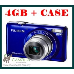 FujiFilm JX370 ( Blue ) + 4GB Card + Hard Case ( Fujiflim Malaysia Warranty )