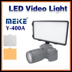 MEIKE Y400A 7.2V-12V Panel Digital LED Video Studio Light for Canon/Nikon/Pentax/Panasonic/Olympus