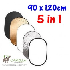 Camzilla 60CM X 90CM 5-IN-1 Light Mulit Collapsible REFLECTOR