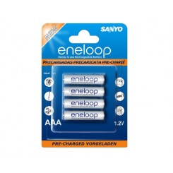 Sanyo Eneloop Rechargeable 800MAh 4 X AAA Battery