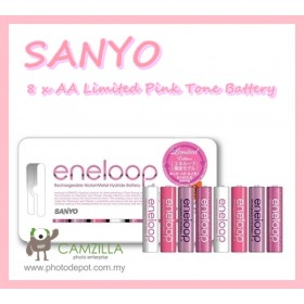 ORIGINAL SANYO ENELOOP TONE SPECIAL EDITION ROUGE  8 x AA BATTERY - PINK EDITION