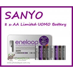 Sanyo Eneloop Uomo Tones 8 psc x  AA 1800 Cycle Times Rechargeable Battery