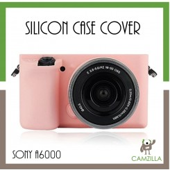 Rubber Silicon Case Cover Protector For Sony A6000 ILCE6000 ILCE-6000 Camera (Pink)